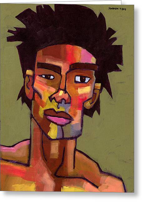 Stylized Paintings Greeting Cards - LIkes to Party Greeting Card by Douglas Simonson