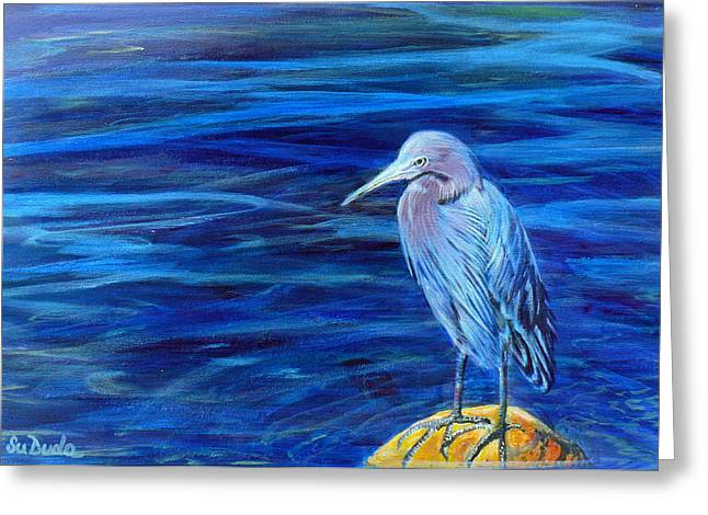 Family Of Doctors Greeting Cards - Lil Blue Greeting Card by Susan Duda
