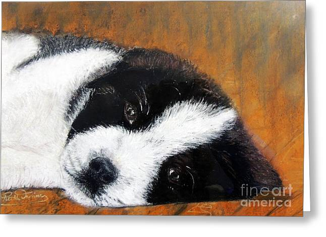 Puppies Pastels Greeting Cards - Lil pup Greeting Card by Ruth Jamieson