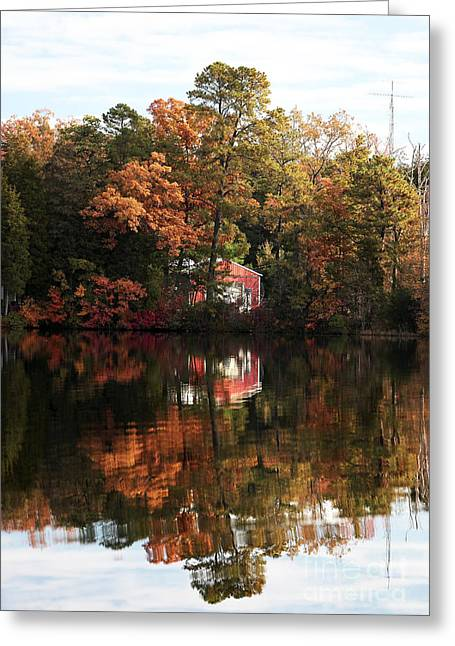 Lil Red On The Lake Greeting Card by John Rizzuto