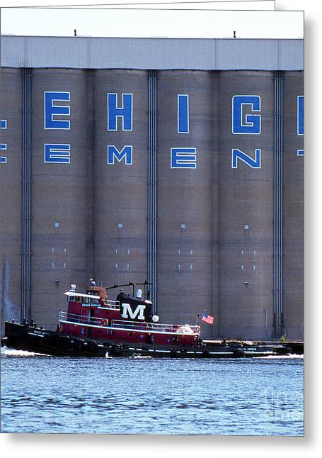Ocean Art Photography Greeting Cards - Lil Red Tug Greeting Card by Skip Willits