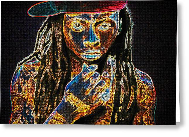 Hair Color Greeting Cards - Lil Wayne Greeting Card by Mountain Dreams