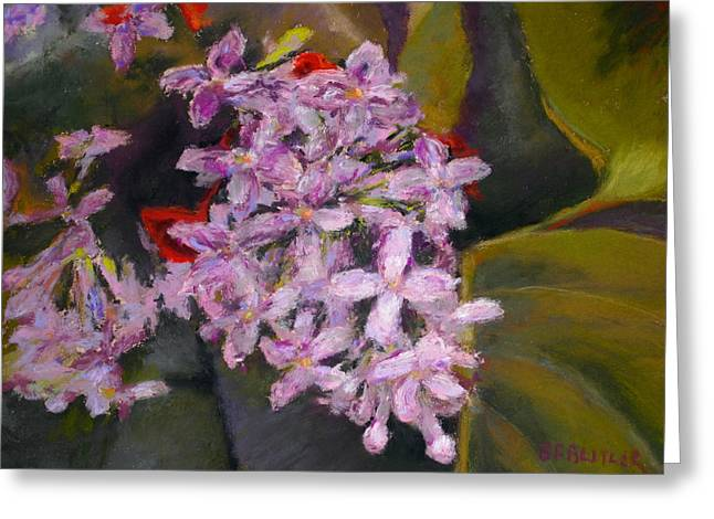Lilac Pastels Greeting Cards - Lilac Greeting Card by Bonnie Ferguson Butler