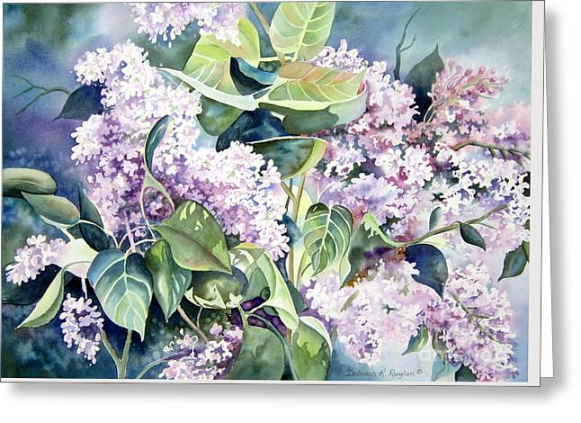 Lilac Delight Greeting Card by Deborah Ronglien