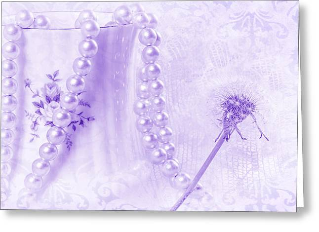 Dandilion Greeting Cards - Lilac Dream Greeting Card by Camille Lopez