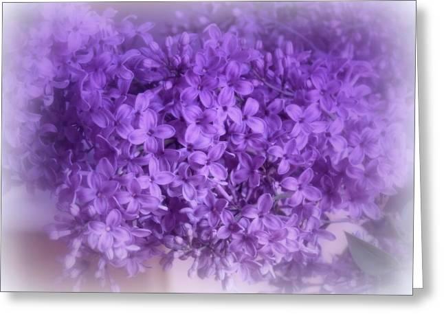 Lilac Fantasy Greeting Card by Kay Novy