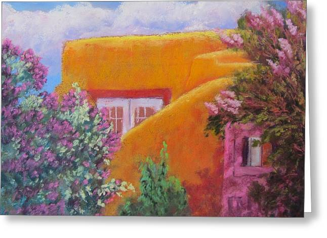 Lilac Pastels Greeting Cards - Lilac House Greeting Card by Sharon Frey