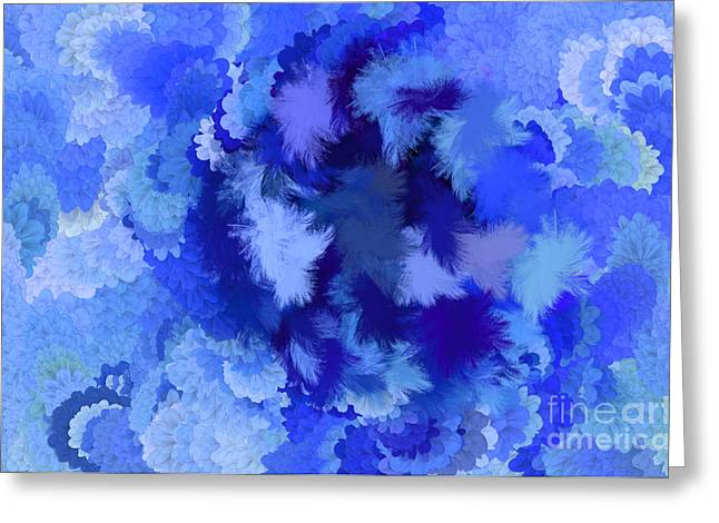 Discrimination Digital Art Greeting Cards - Lilac of the Valley Blue White Greeting Card by Holley Jacobs
