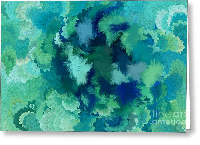 Discrimination Digital Art Greeting Cards - Lilac of the Valley Teal Green Greeting Card by Holley Jacobs