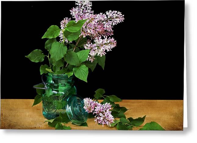 Oleaceae Greeting Cards - Lilac Preserves Greeting Card by Nikolyn McDonald