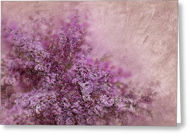 Dusky Pink Greeting Cards - Lilac Splash Greeting Card by Svetlana Sewell