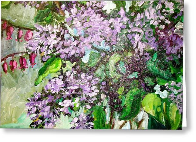 Lilacs Greeting Card by Carol Mangano