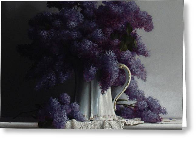 LILACS study no.2 2011 Greeting Card by Larry Preston