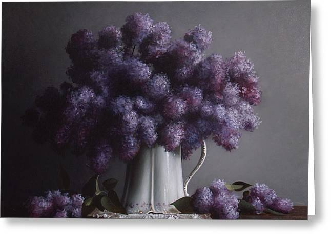LILACS study no.2 Greeting Card by Larry Preston