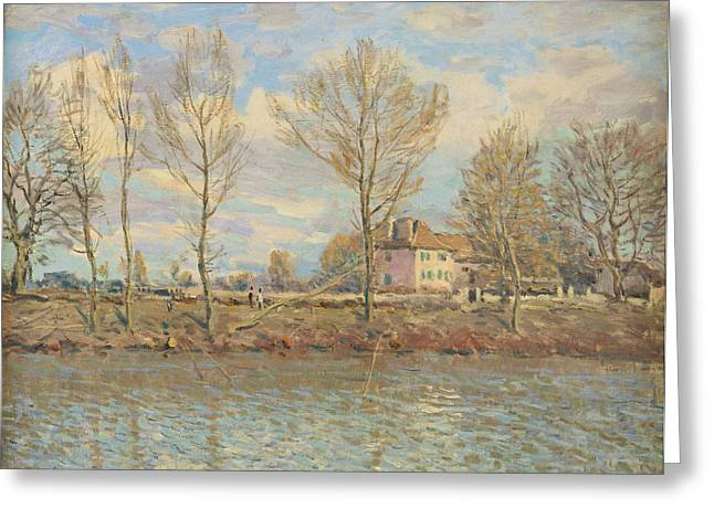 Bare Trees Greeting Cards - Lile De La Grande Jatte, Neuilly-sur-seine, 1873 Oil On Canvas Greeting Card by Alfred Sisley