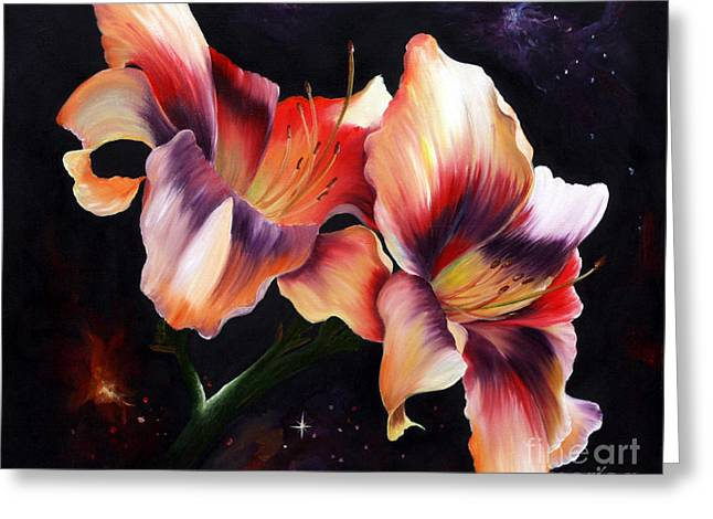 Illuminate Greeting Cards - Lilies 1 Greeting Card by  ILONA ANITA TIGGES - GOETZE  ART and Photography