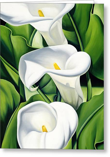 Twenties Greeting Cards - Lilies Greeting Card by Catherine Abel