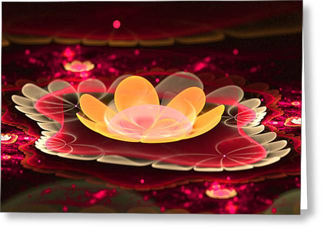 Floral Digital Art Greeting Cards - Lilies on Lava Bed Greeting Card by Ester  Rogers