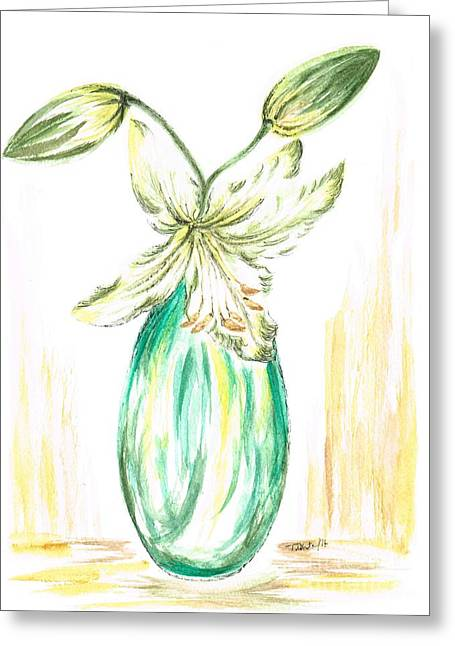 Lilies Greeting Card by Teresa White