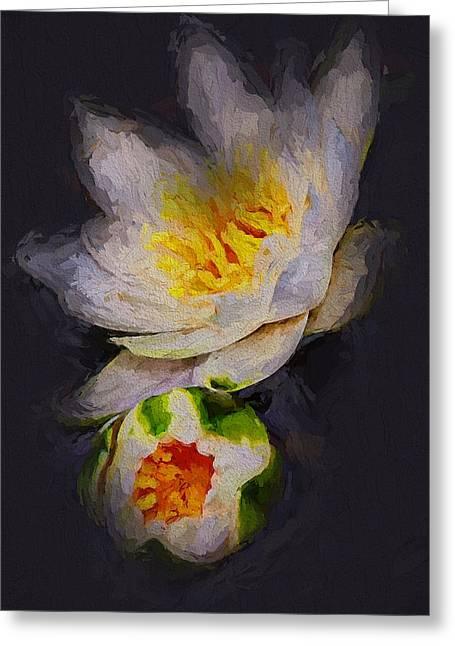 Interior Still Life Digital Art Greeting Cards - Lilies Greeting Card by Yury Malkov