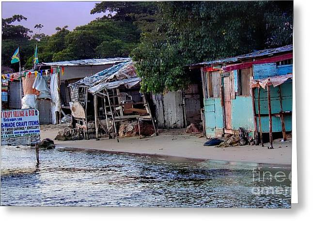 Montego Bay Greeting Cards - Liliput Craft Village and Bar Greeting Card by Lilliana Mendez