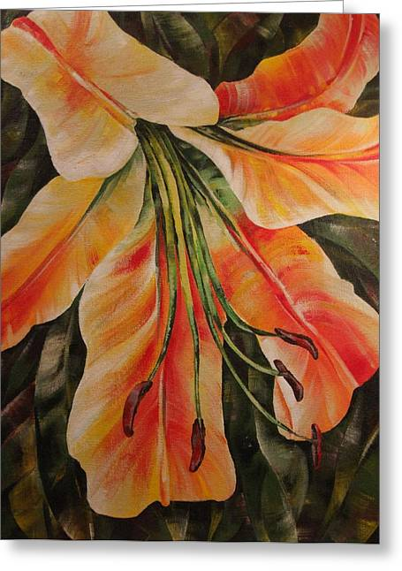Lilium Greeting Cards - Lilium Greeting Card by Natasha Denger