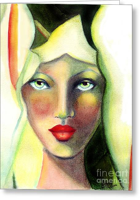 Rosy Hall Greeting Cards - Lilleth Greeting Card by Rosy Hall