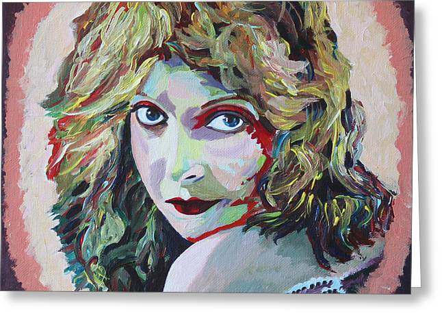 D.w. Paintings Greeting Cards - Lillian Gish Portrait Greeting Card by Robert Yaeger