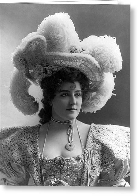 Busty Greeting Cards - Lillian Russell Greeting Card by Stefan Kuhn