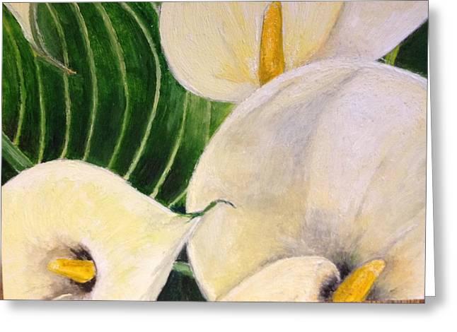 John Schuller Greeting Cards - Lillies Greeting Card by John Schuller