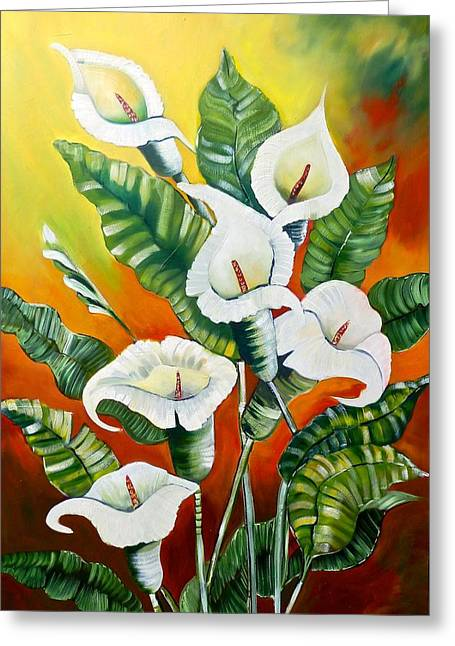 Recently Sold -  - Flower Design Greeting Cards - Lillies Greeting Card by Susan Robinson