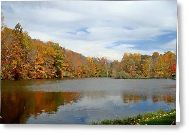 Indiana Autumn Greeting Cards - Lilly Lake October Greeting Card by BackHome Images
