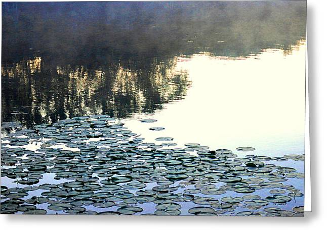 Lilly Pad Greeting Cards - Lilly Pad Abstraction Greeting Card by Wendell Lowe