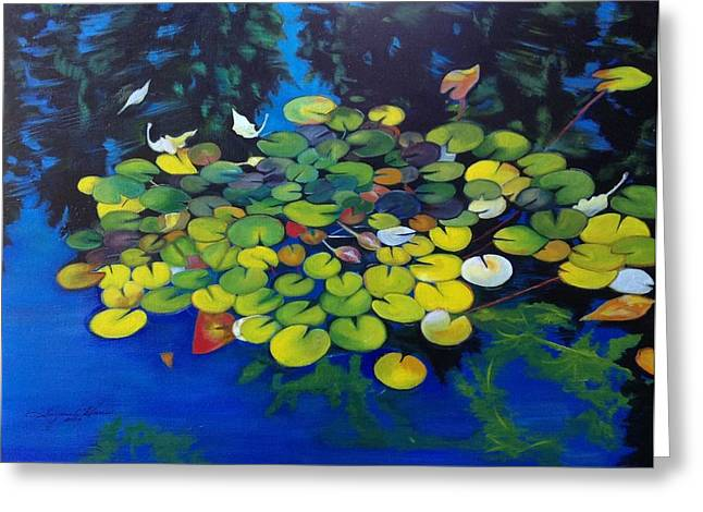Lilly Pad Greeting Cards - Lilly Pads at Steamboat Greeting Card by Suzanne Norgress Harris