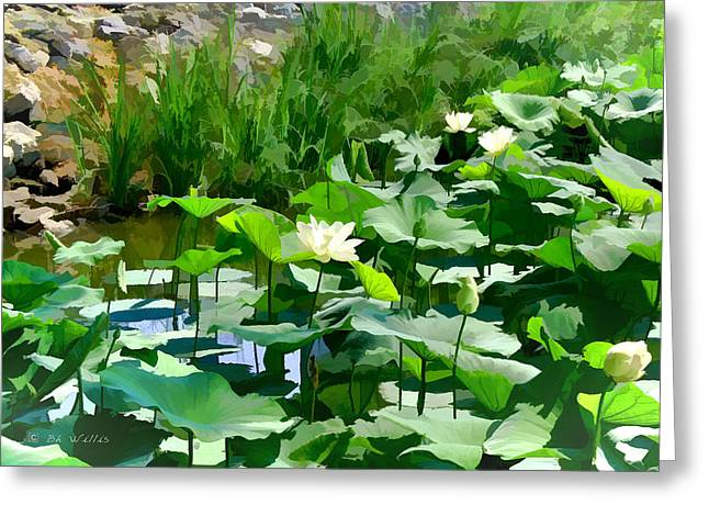 Lilly Pads Digital Art Greeting Cards - Lilly Pads Greeting Card by Bonnie Willis