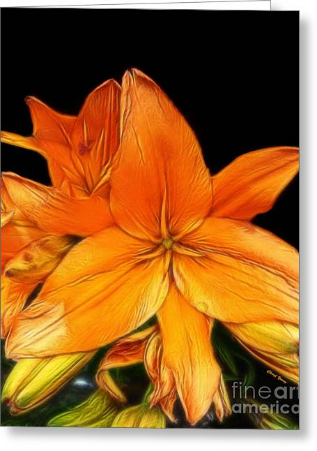 Reception Greeting Cards - Lily Abstract Greeting Card by Cheryl Young