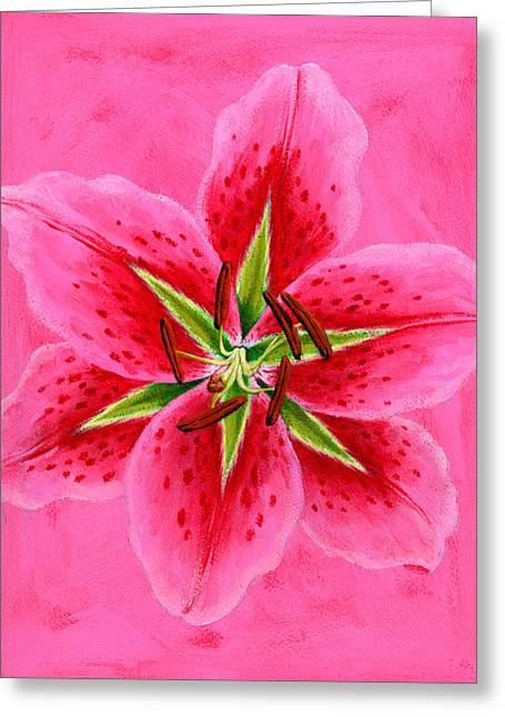 Floral Still Life Greeting Cards - Lily Greeting Card by Brian James