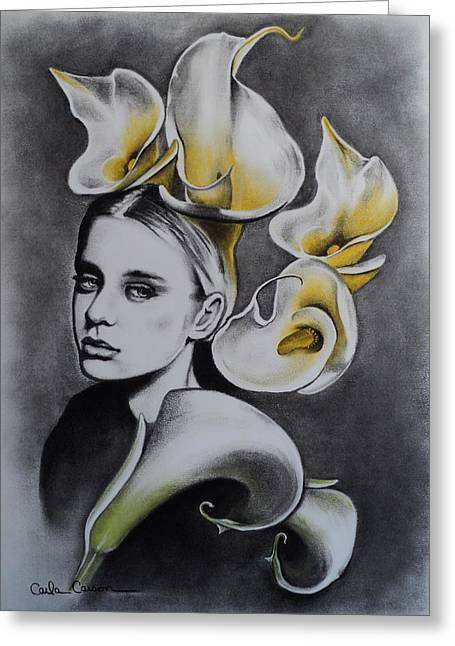 Calla Lily Pastels Greeting Cards - Lily Greeting Card by Carla Carson
