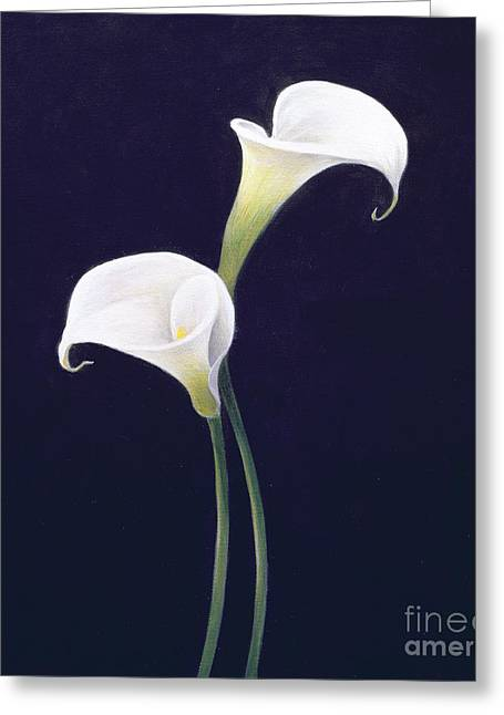 White Florals Greeting Cards - Lily Greeting Card by Lincoln Seligman