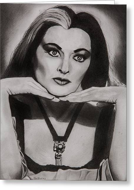 Lily Munster Greeting Card by Brian Broadway