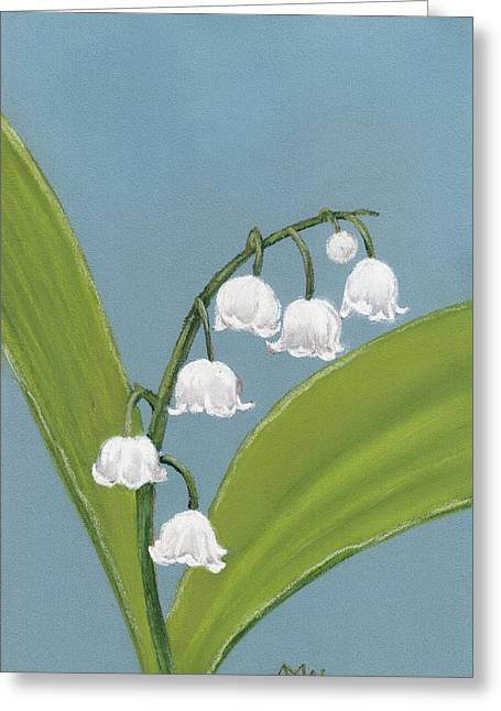 Hope Pastels Greeting Cards - Lily of the Valley Greeting Card by Anastasiya Malakhova