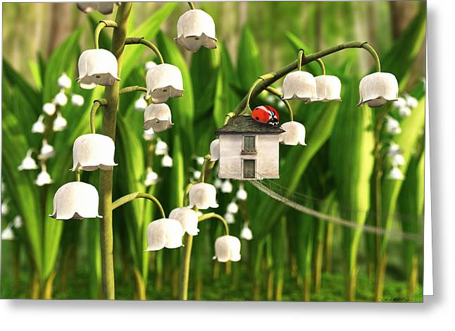 Verdant Greeting Cards - Lily of the Valley Greeting Card by Cynthia Decker