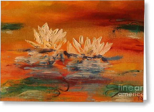 Essential Paintings Greeting Cards - Lily Pad Greeting Card by PainterArtist FIN