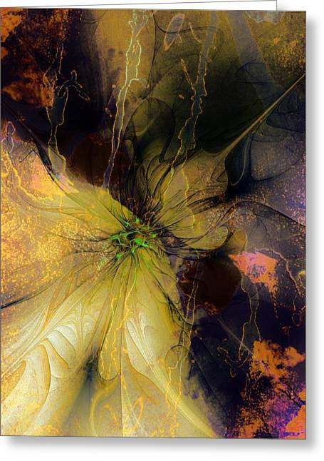 Lily Pond Reflections Greeting Card by Amanda Moore