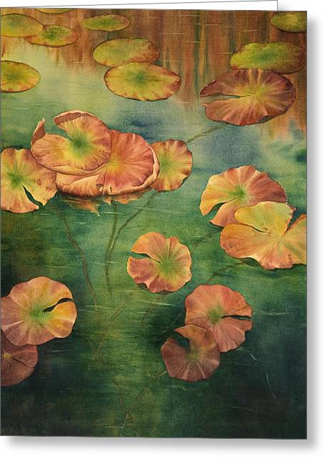 Recently Sold -  - Aquatic Greeting Cards - LilyPads Greeting Card by Johanna Axelrod