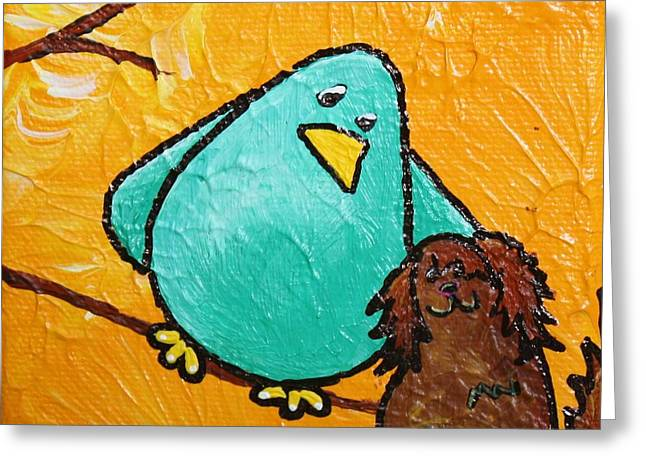 Limb Birds - Bird Dog Greeting Card by Linda Eversole