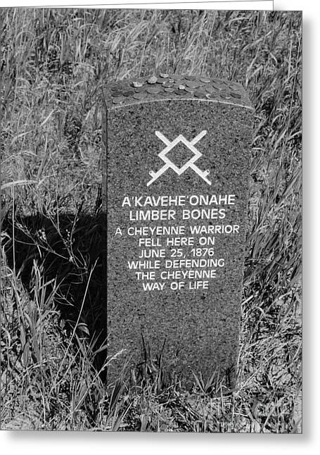 Bravery Greeting Cards - Limber Bones- A Cheyenne Warrior- Fell Here  Greeting Card by Debra Martz