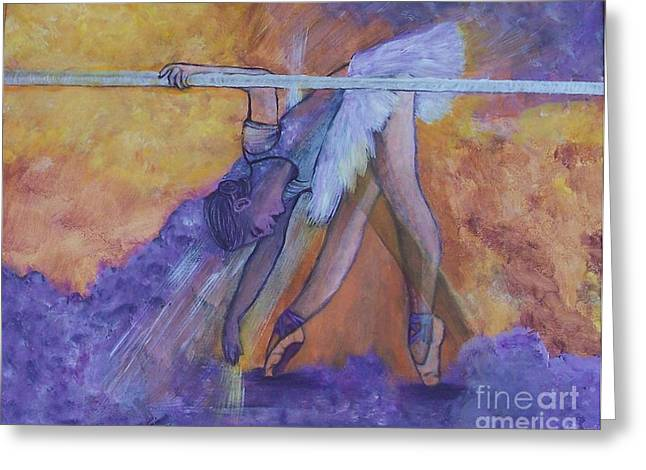 Ballet Bar Greeting Cards - Limbering Up Greeting Card by Lucia Grilletto