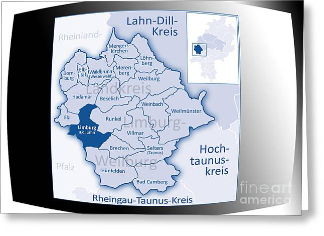 Limburg Digital Greeting Cards - Limburg-Weilburg Limburg Greeting Card by Manik
