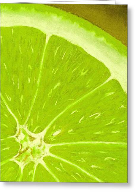 Organic Pastels Greeting Cards - Lime Greeting Card by Anastasiya Malakhova